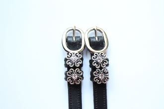 Celtic Scroll Spur Straps